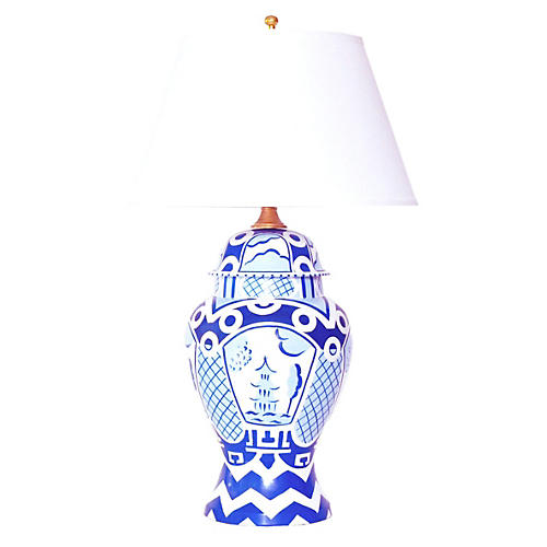 Summer Palace Table Lamp, Blue