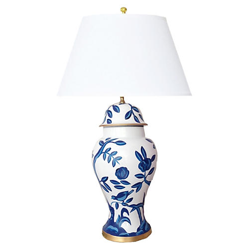 Cliveden Table Lamp, Blue