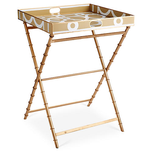 Ming Tray Side Table, Taupe