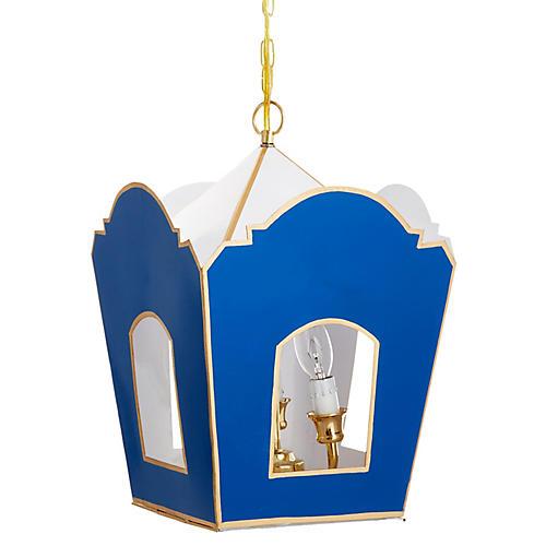 Mod Lantern, Blue/Gold