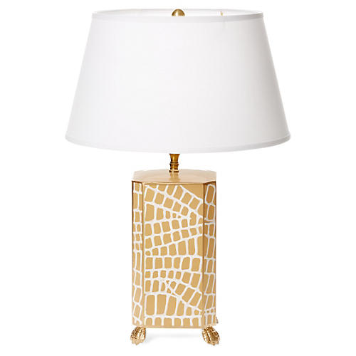 Croc Table Lamp, Taupe