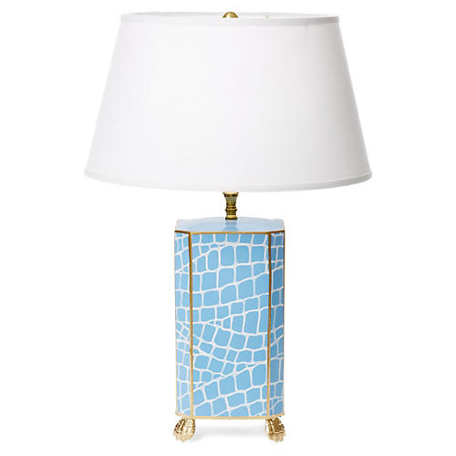 Croc Table Lamp, Blue