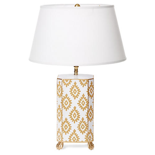 Block Table Lamp, Taupe