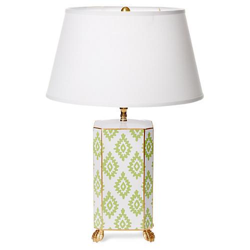 Block Table Lamp, Green