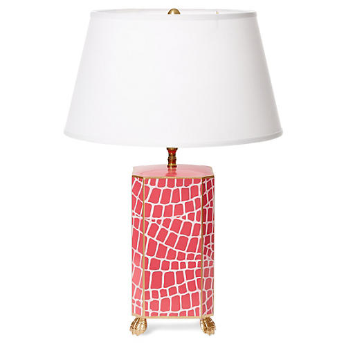 Croc Table Lamp, Pink