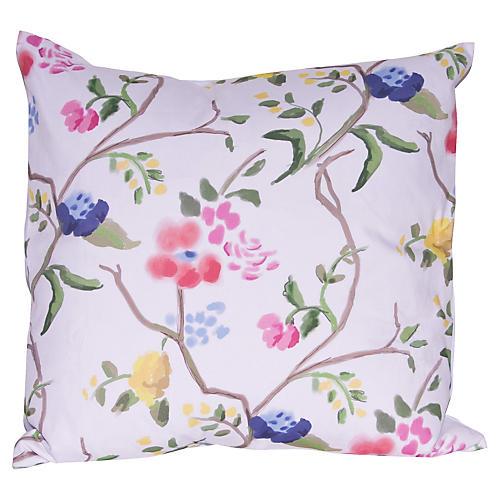 Sissinghurt 22x22 Pillow, Pink/Blue