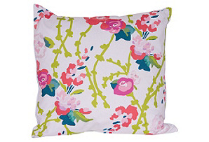 Chintz 22x22 Pillow, Pink/Green*