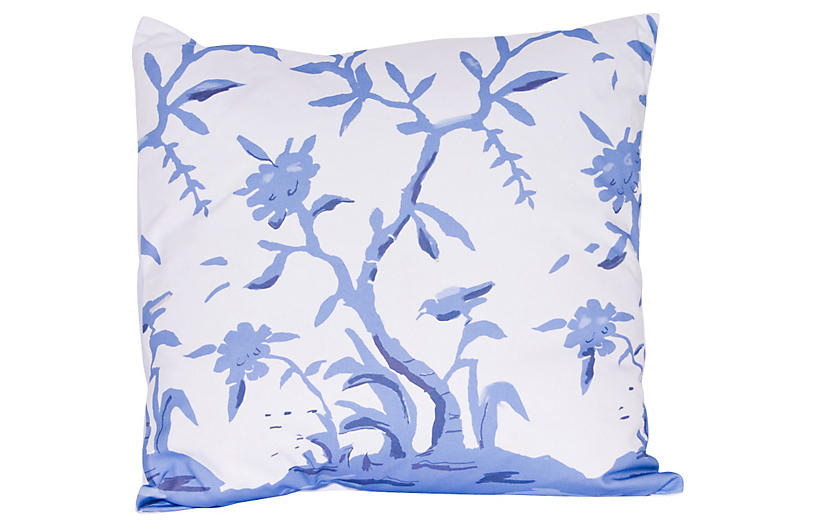Cliveden 22x22 Pillow, Blue