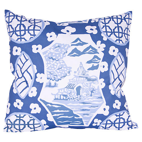 Canton 22x22 Pillow, Blue