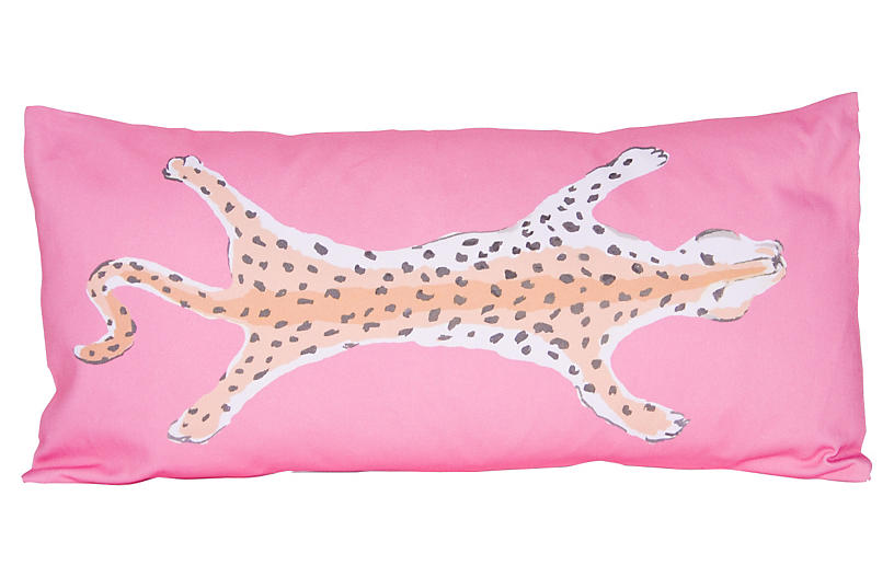 Leopard 12x24 Pillow, Pink