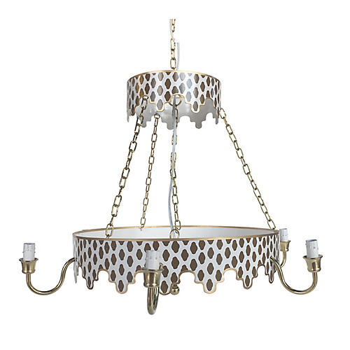 Parsi Two-Tiered Chandelier, Brown