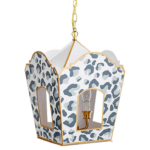 Mod Lantern, Gray Cheetah