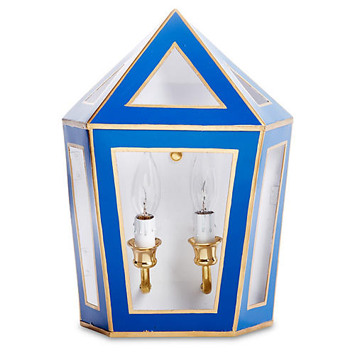 Tucker Sconce, Blue/Gold