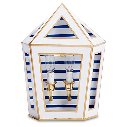 Tucker Sconce, Blue Pinstripe