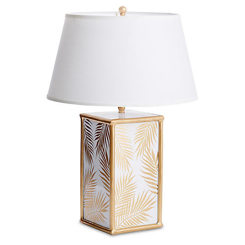 Montauk Table Lamp, Gold Palm