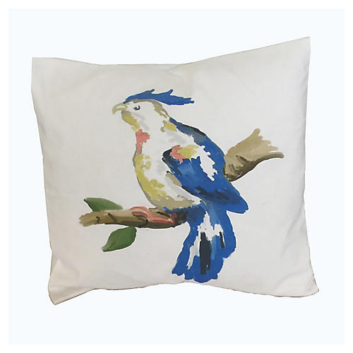 Parrot 18x18 Pillow, Blue