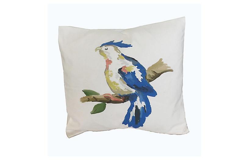 Parrot 18x18 Pillow, Blue