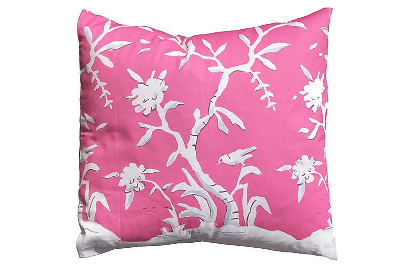 Cliveden 22x22 Pillow, Pink