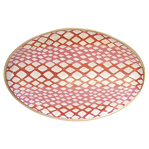 "19"" Python Decorative Tray, Pink"