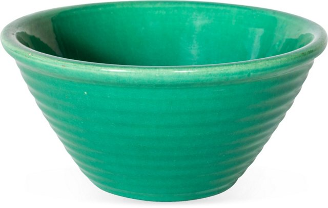 Turquoise Ceramic Serving Bowl, Small