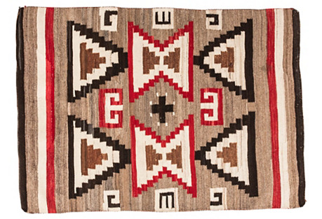 Navajo-Style Hourglass Rug