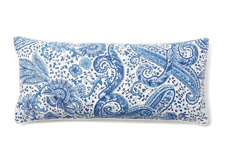 Paisley & Floral 12x26 Pillow, Blue