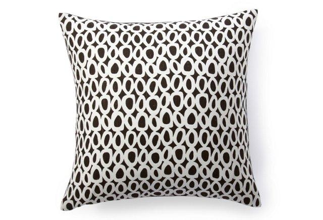 Solar Dots 18x18 Pillow, Black