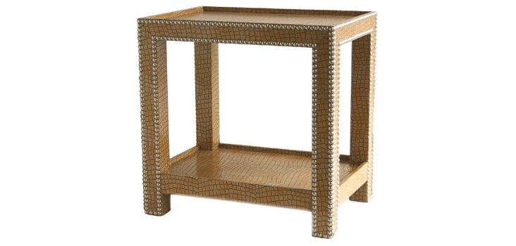 Crocodile Side Table, Buff