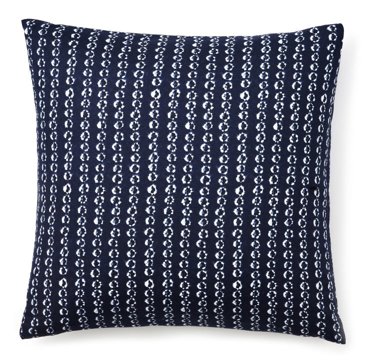 Stripe 18x18 Pillow, Royal Blue