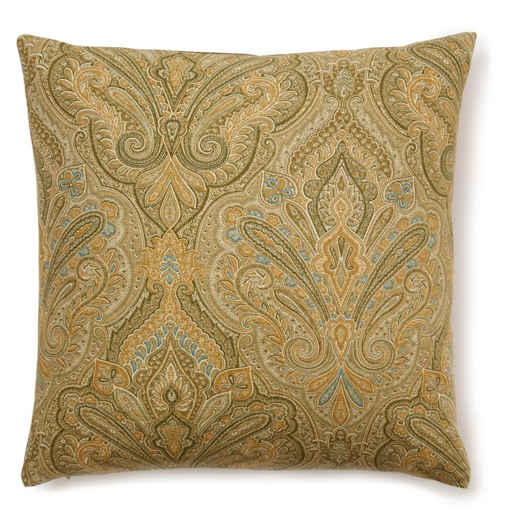 Raj Paisley 20x20 Pillow, Sage