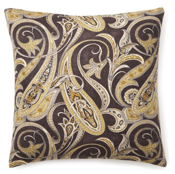 Persia 20x20 Pillow, Black/Gold