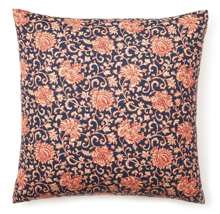 Garden Stripe 20x20 Pillow, Navy