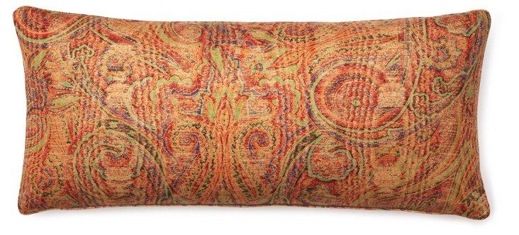 Paisley 12x26 Pillow, Pinot