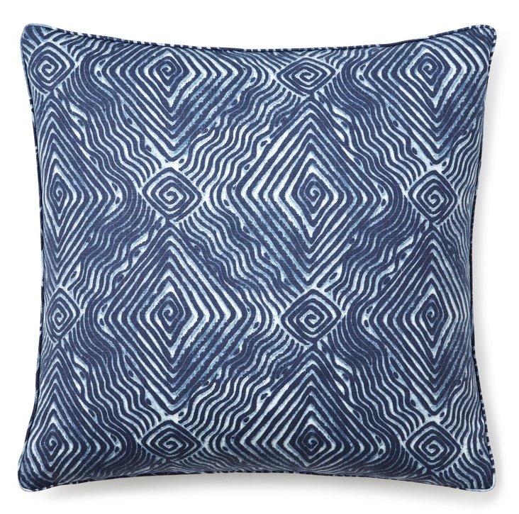 Swirl 18x18 Pillow, Blue