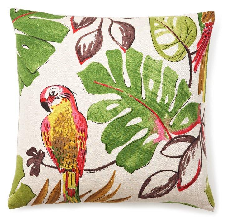 Parrot 18x18 Pillow, Natural