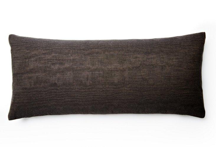 Bois 12x18 Pillow, Charcoal