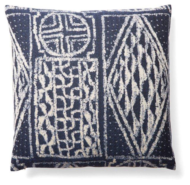 Deco 18x18 Pillow, Indigo