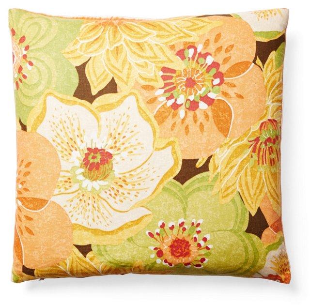 Botanical 22x22 Linen Pillow, Multi