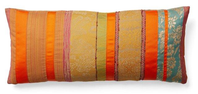 Striped 10x22 Pillow, Orange
