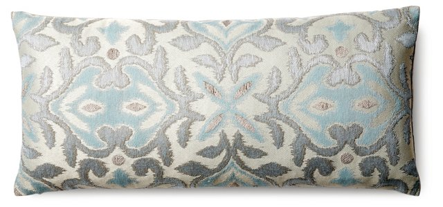 Gatsby 12x26 Silk Pillow, Multi