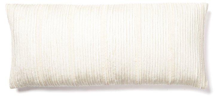 Snow Cotton 10x22 Pillow, White
