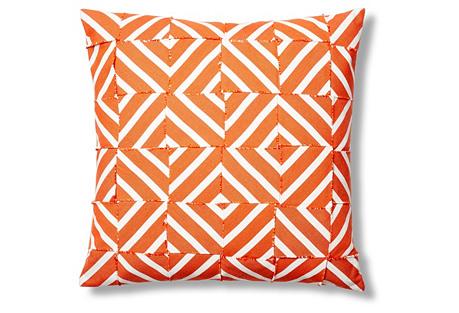 Cabana 24x24 Outdoor Pillow, Orange