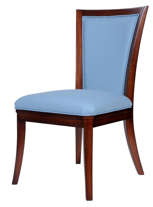 Palm Island Side Chair, Sky Blue
