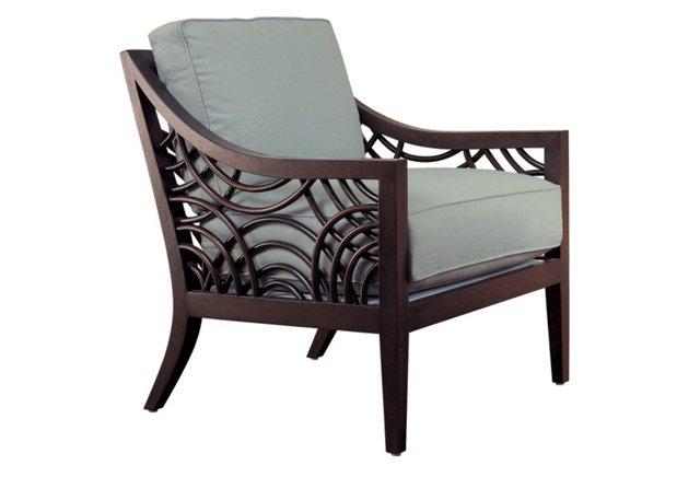 Manhattan Lounge Chair, Slate Blue