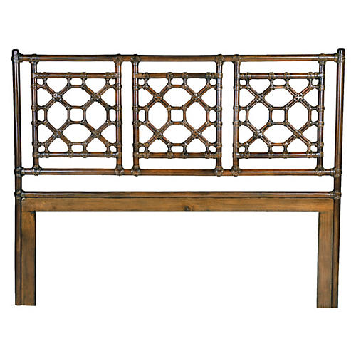 Lattice Headboard, Golden Mahogany
