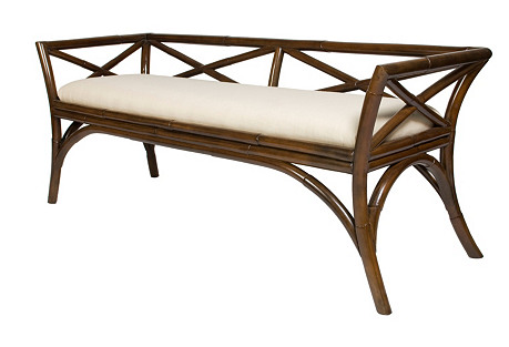 Charlotte Bench, Coffee Brown