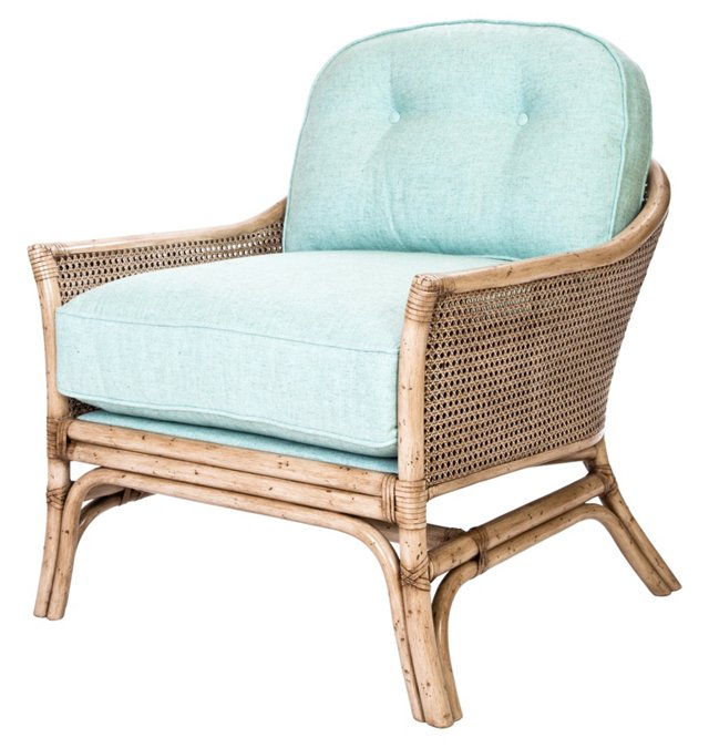 Calistoga Lounge Chair, Light Blue