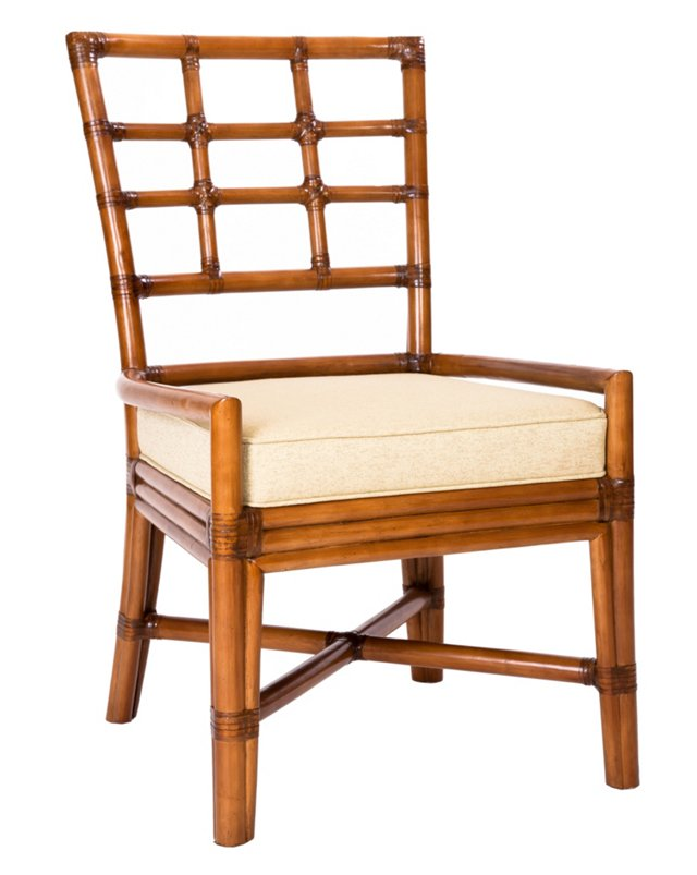 Chelsea Rattan Side Chair, Ivory