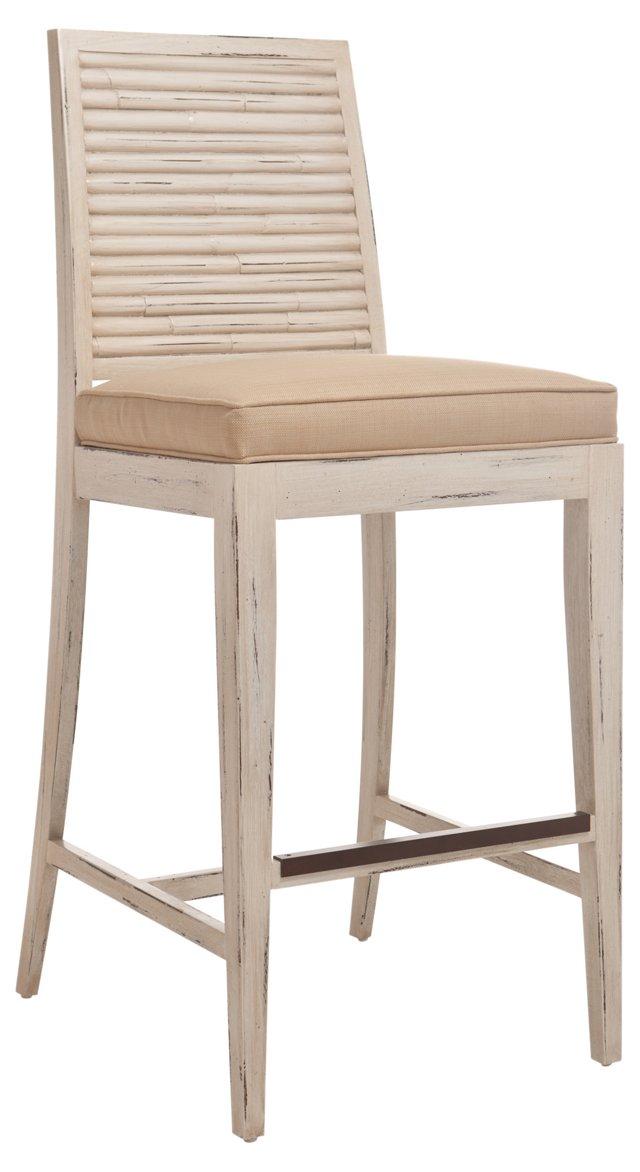 Stacked Bamboo Barstool, Oatmeal