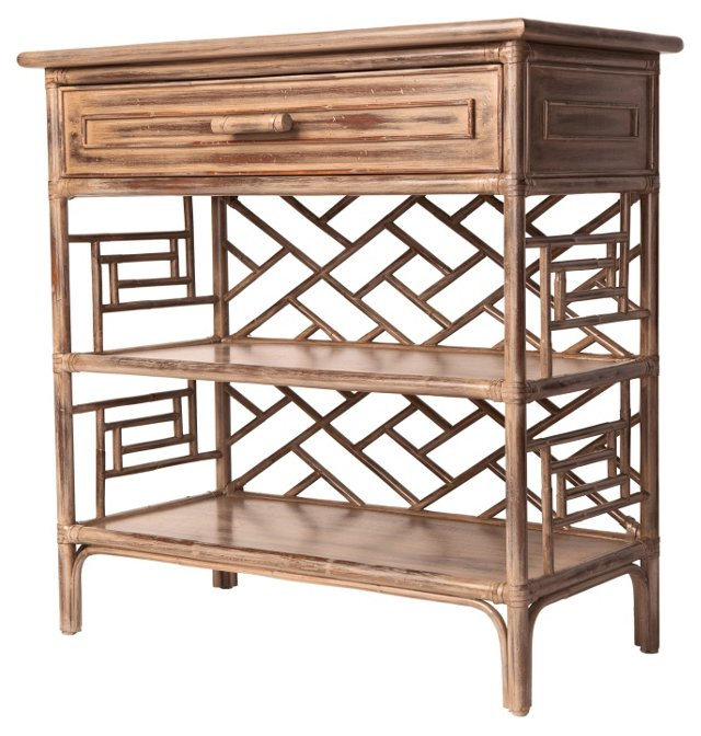 Chinese Chippendale Bookshelf, Toffee